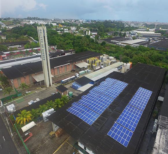 Usinas fotovoltaicas geradora de energia limpa e renovável.